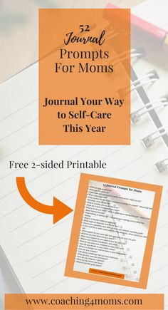 Do you want to write in a journal for self-care, reflection or accountability? This post gives you 52 journal posts to last for the year. https://www.getdrip.com/forms/982210384/submissions/new Journal   self-care   moms   accountability   free printable
