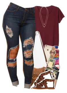 """ootd"" by daisym0nste ❤ liked on Polyvore featuring Monki, Topshop, In God We Trust, Sephora Collection, T-shirt & Jeans, J.Crew, MAC Cosmetics, Boohoo, NARS Cosmetics and American Eagle Outfitters"