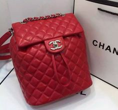 NIB NWT 100% authentic Chanel Urban Spirit Lambskin Backpack medium red $1525.0