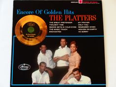 """The Platters - Encore of Golden Hits - """"Smoke Gets In Your Eyes"""" - """"My Prayer"""" - Mercury Records 1976 Re-Issue - Vintage Vinyl Record Album by notesfromtheattic on Etsy"""