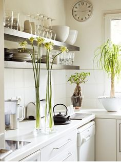 White, white, white and open shelving.