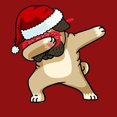 Dabbing Pug Shirt Cute Pug Dab Shirt Christmas Pugly Sweater 2