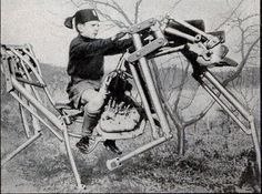 The 1933 Alzetta Italian Mechanical Horse. Links to the cybernetic zoo