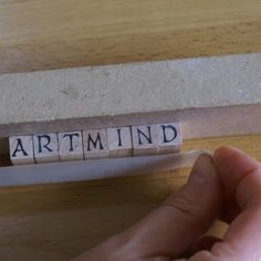 ArtMind: How to easily stamp names/words with individual letter stamps