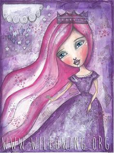 Princess Mia Print by willowing on Etsy, £12.00