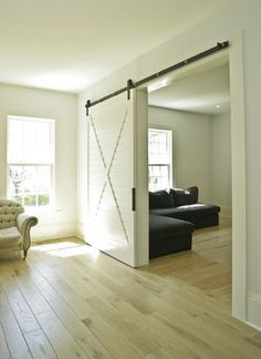 Interior White Plantation Shutter Sliding Door Design Ideas, Pictures, Remodel and Decor
