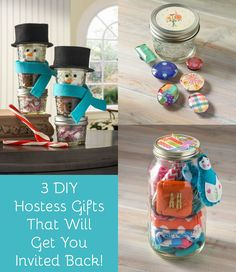 Make sure that you get invited back next year with one of these three DIY hostess gifts - all of them are really easy to make!
