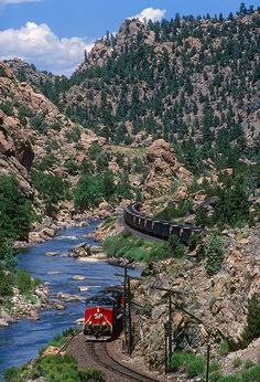 Southern Pacific Snaking through Browns Canyon near Hecla Junction, Colorado | Flickr - Photo Sharing!