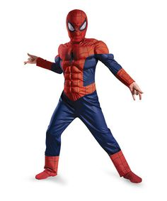 Another great find on #zulily! Ultimate Spider-Man Muscle Light-Up Dress-Up Outfit - Boys #zulilyfinds