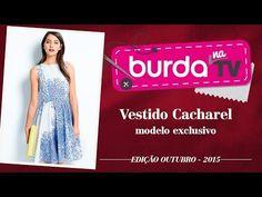burda na TV 61 | Vida com Arte | Vestido exclusivo: Cacharel para burda style - YouTube