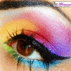 Rainbow eyeshadow. I will find a time (besides Halloween) when this makeup look is acceptable for me to wear in public!