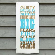 'Guilty Spectacles' wood type letterpress poster