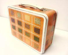Metal Lunch Box, Lunch Boxes, Retro, Retro Illustration