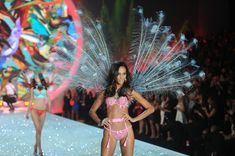 Model Joan Smalls walks the runway at the 2013 Victoria's Secret Fashion Show at Lexington Avenue Armory on November 13, 2013 in New York City.
