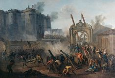 ...storming of the Bastille, symbolic start of the French Revolution ... (Over 17,000 people were officially tried & executed during the Reign of Terror, & an unknown number of others died in prison or without trial.)