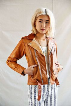 PeleCheCoco Leather Biker Jacket - made from recycled leather
