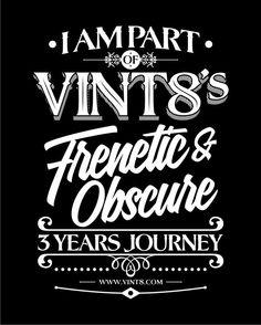 Vint8 Three Years by Twicolabs Design, via Behance
