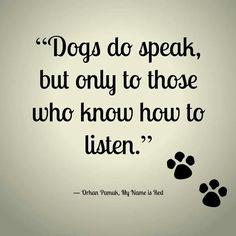 Dogs do speak ...