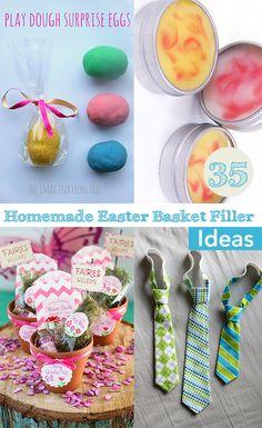 Top 35 easter basket filler ideas homemade easter baskets 35 homemade easter basket filler ideas so much fun diy easter basket ideas for negle Gallery