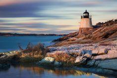 Castle Hill Lighthouse in Newport, Rhode Island. Top US destinations