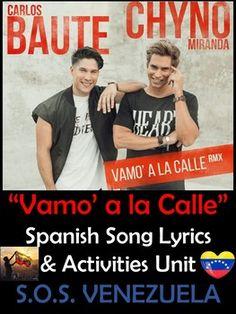 Vamo' a la Calle Spanish Song Lyrics and S.O.S. Venezuela Unit - Carlos Baute