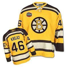 Youth Bruins  46 David Krejci Gold Winter Classic Jersey Patrice Bergeron e8e03e24d
