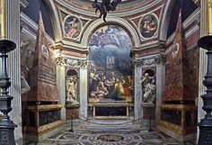 Interior de la capilla Chigi en Santa María del Poppolo. Rafael, 1513.