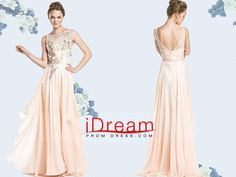 #2015 #v #neck #a #line #chiffon #with #applique #and #beads #sweep #train #prom #dresses