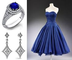 Pop Culture And Fashion Magic  #partydress #romantic #retro #feminine #fashion #vintage #jewelry #dress #vintage #frock #teadress #promdress #highendvintage #classic #rings #earrings #diamonds #platinum #gemstones