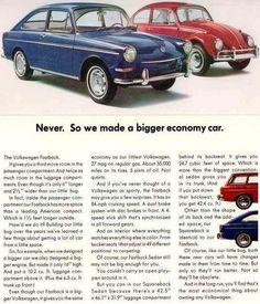 1967 VW Fastback Vintage Print Ad