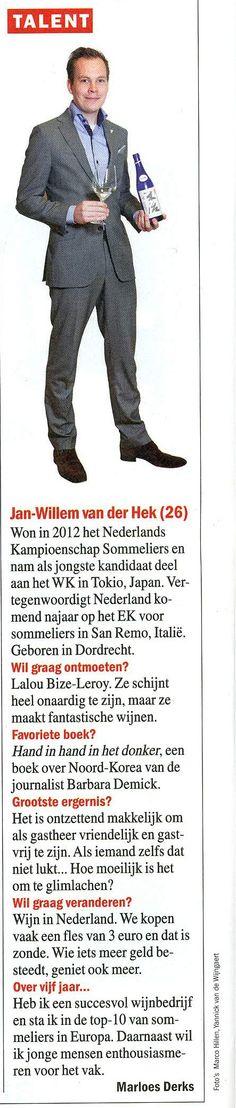 ELSEVIER TALENT: JAN-WILLEM VAN DER HEK Van, People, Vans, Folk