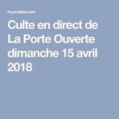 La porte ouverte po tv page d 39 accueil la porte - Culte en direct de la porte ouverte de mulhouse ...