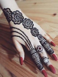 Jewelry style henna designs 2018-19