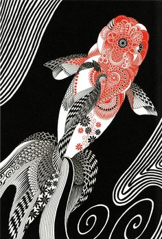 gorgeous koi fish design for tattoo                                                                                                                                                                                 もっと見る