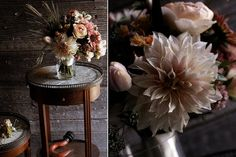 Love those round side tables!  And the wild unruly flowers