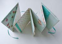 Minialbum aus einem Blatt 24 x 34 cm