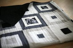 Black and White Memories Quilt by PileOFabric, via Flickr
