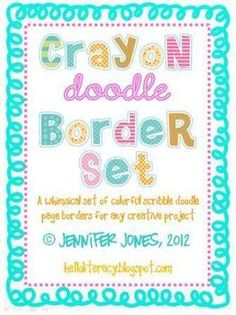 Crayon Doodle Borders Bundle - (Set of 8)