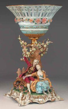 1201: Monumental Porcelain Centerpiece : Lot 1201