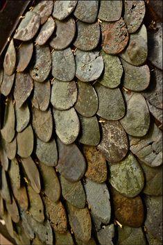 Ancient Roman scale armor (lorica squamata), Royal Ontario Museum.