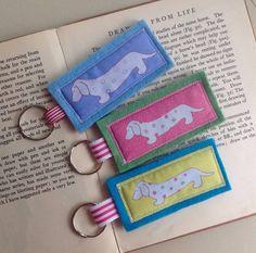 dachshund dog keyring choice of three colours by liz padgham-major | notonthehighstreet.com