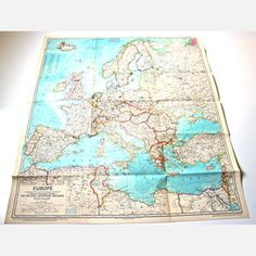 Map Of Europe, $40, now featured on Fab.