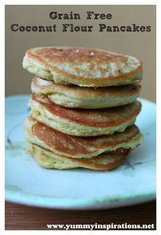 Grain Free Coconut Flour Pancakes (Paleo, GAPS)