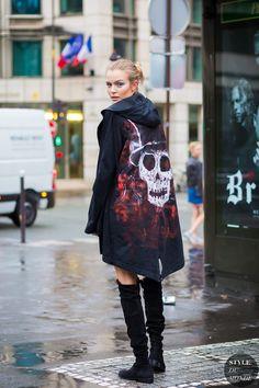 Haute Couture Fall 2016 Street Style: Josephine Skriver