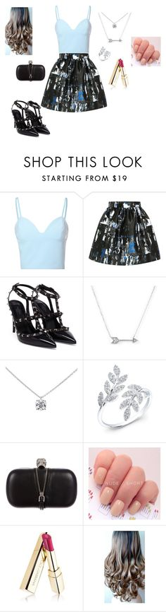 """""""Electric Streaks"""" by brophyash ❤ liked on Polyvore featuring Glamorous, McQ by Alexander McQueen, Valentino, Adina Reyter, Tiffany & Co., Anne Sisteron, Alexander McQueen and Dolce&Gabbana"""