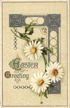 #Antique #Easter #Postcard Daisies Celtic by #postcardsintheattic @Colleen Cornelius