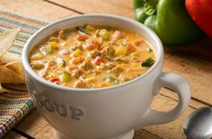 Southwestern Chicken, Vegetable Soup With Chicken, Cheeseburger Chowder, Spicy, Health Fitness, Gluten Free, Vegetables, Cooking, Recipes
