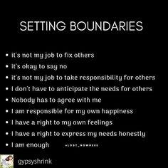 Lack of boundaries and self love is what contributed to my toxic narcissist vs Empath nightmare! The Universe had to shaken me to awaken me! These NARCS were brought to us for a reason and on a spiritual level so we can become our highest self and learn t Positive Quotes, Motivational Quotes, Inspirational Quotes, Relation D Aide, Boundaries Quotes, Personal Boundaries, Affirmations, Quotes To Live By, Life Quotes