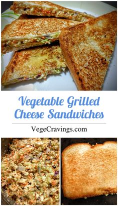 Veg Grilled Cheese Sandwich Sweet and spicy vegetable sandwich made using cabbage, carrot, onion and paneer (indian cottage cheese) Grill Sandwich, Grilled Sandwich Recipe, Grill Cheese Sandwich Recipes, Bread Sandwich Recipe Indian, Vegetarian Snacks, Healthy Vegan Snacks, Vegetable Sandwich Recipes, Snack Recipes, Tartiflette Recipe