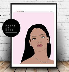 Printable Rihanna wall art sassy girl boss Rihanna poster